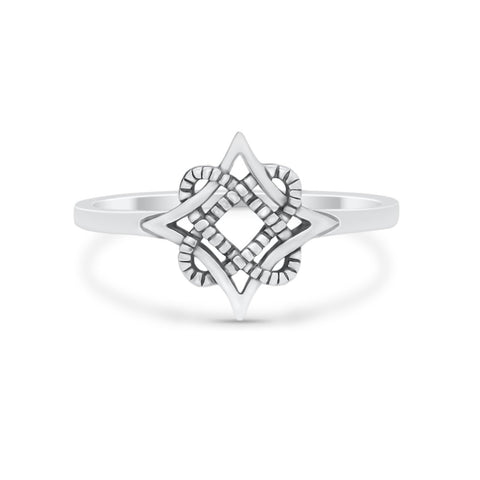 Simple Plain Celtic Star Thumb Ring Band Solid 925 Sterling Silver