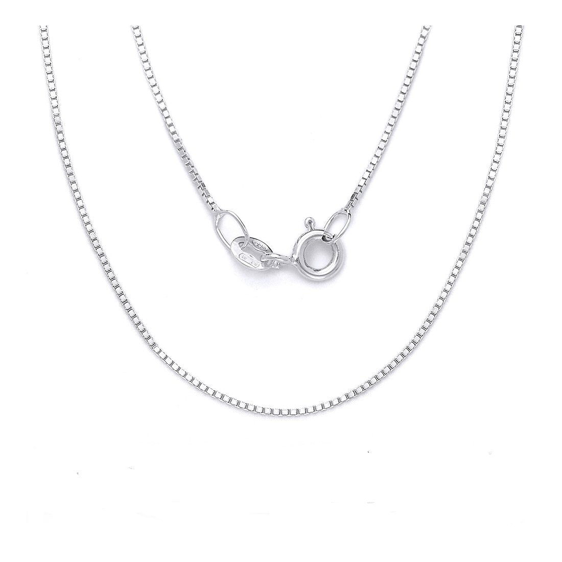 "1.6MM Box Chain .925 Solid Sterling Silver Sizes ""16-30"" Inch"