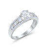 Oval Wedding Engagement Ring Round Marquise Simulated CZ 925 Sterling Silver