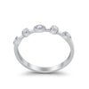 3mm Half Eternity Art Deco Wedding Band Round Simulated CZ 925 Sterling Silver