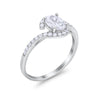 Oval Wedding Engagement Bridal Ring Round Simulated Cubic Zirconia 925 Sterling Silver