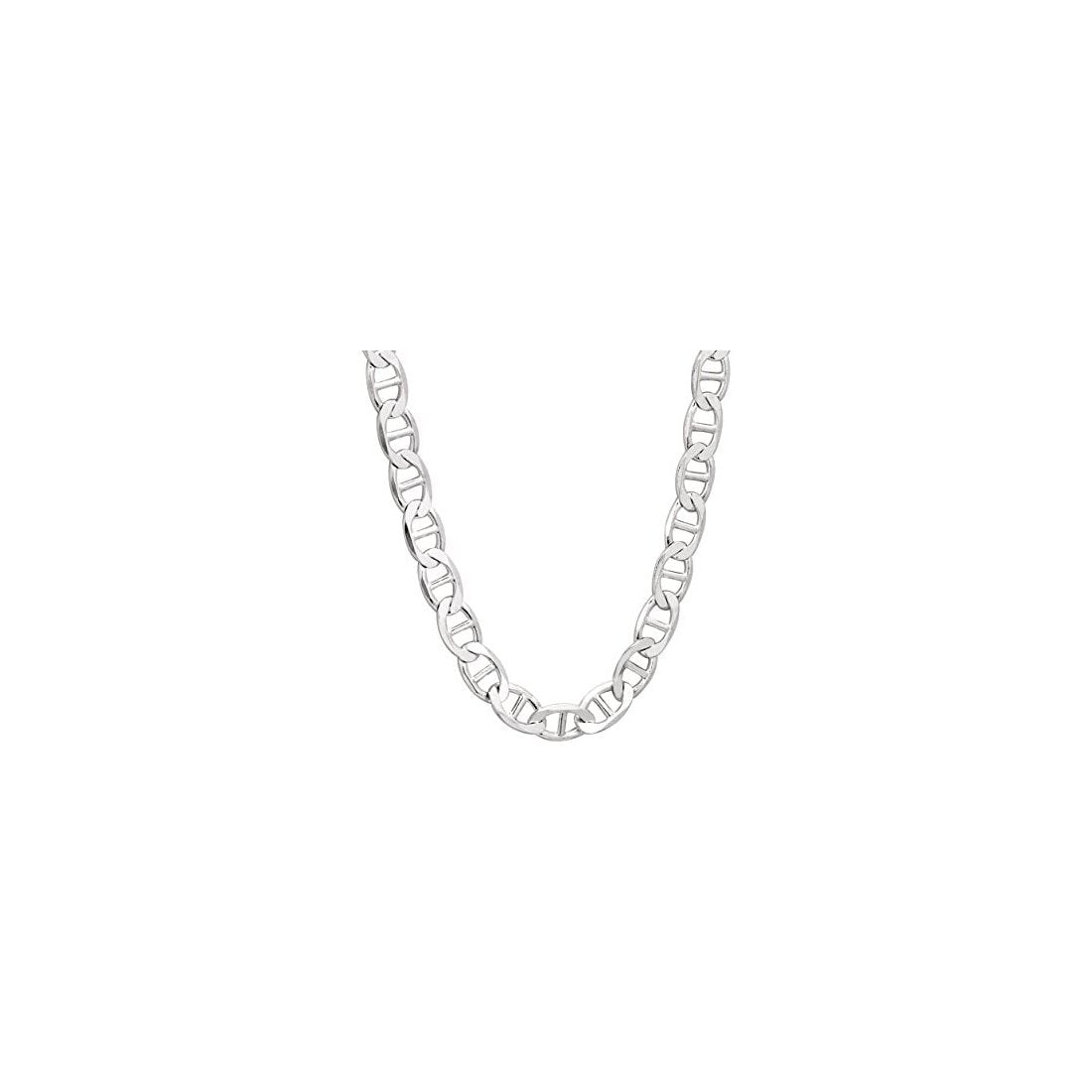 "11.8MM 250 Mariner Chain .925 Solid Sterling Silver Available In ""8-28"" Inches"