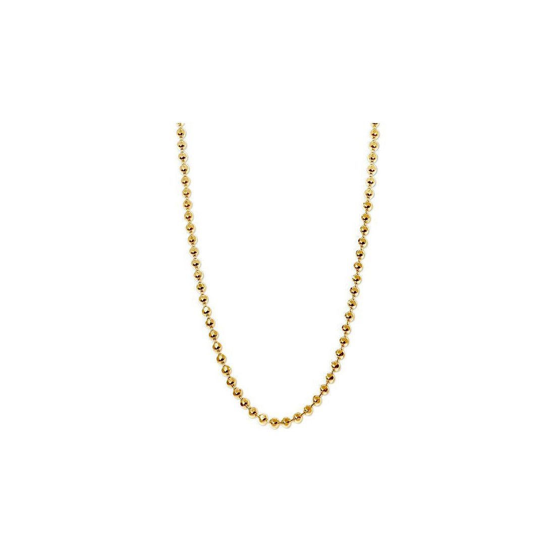 "4MM 400 Moon Link Yellow Gold Chain .925 Sterling Silver Sizes ""8-30"" Inches"