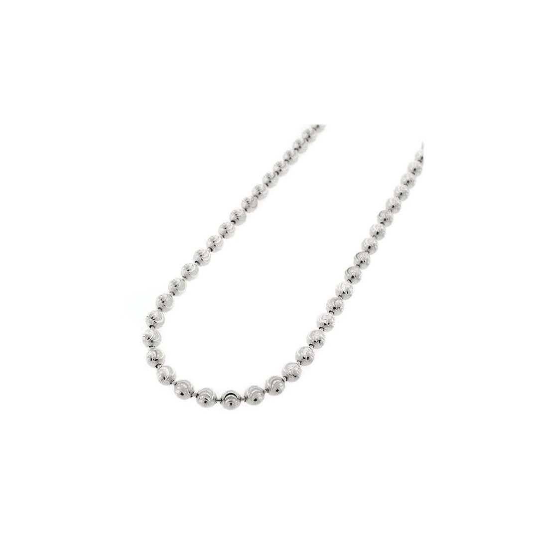 "4MM Moon Cut Chain 925 Solid Sterling Silver Available In 8""-30"" Inches"