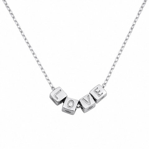 Love Cube Necklace 925 Sterling Silver