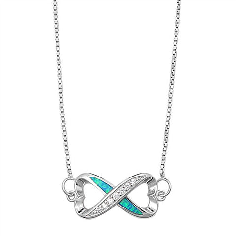 Silver italian Necklace - Infinity - $11.33