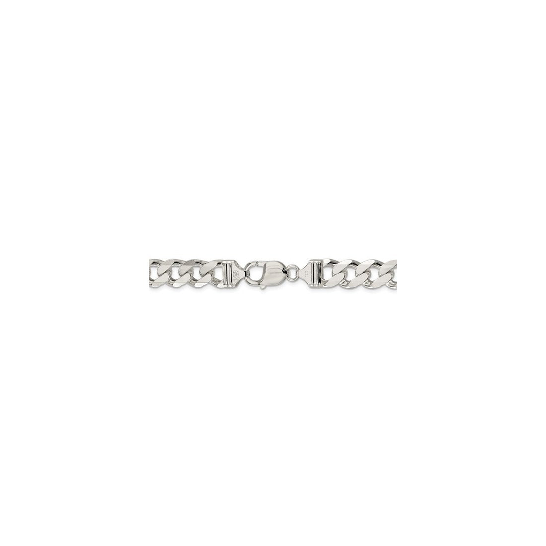"4MM 100 Pave Curb Chain .925 Solid Sterling Silver Available In ""7-30"" Inches"
