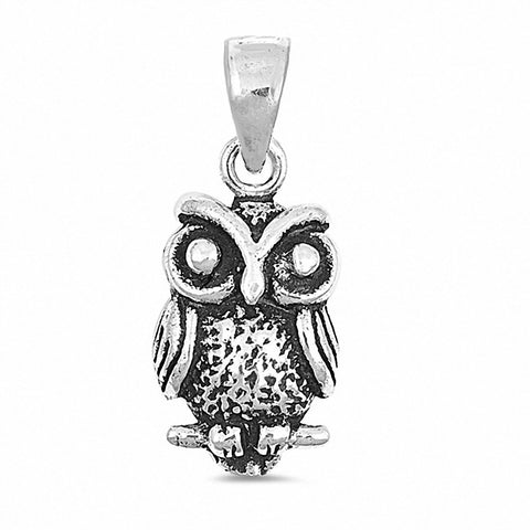 Owl Pendant 925 Sterling Silver Choose Color
