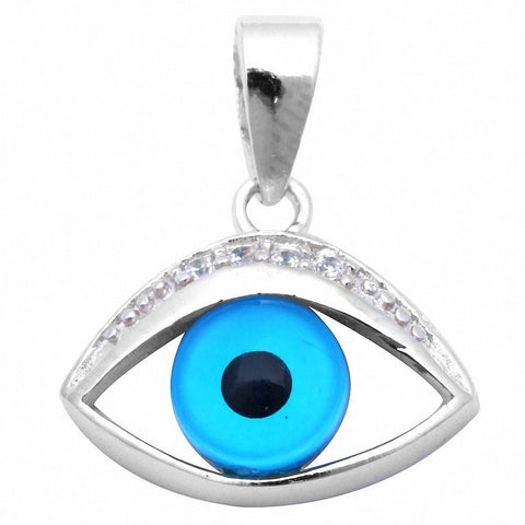 Evil Eye with Cz .925 Sterling Silver Pendant