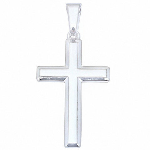 Solid Cross .925 Sterling Silver Pendant