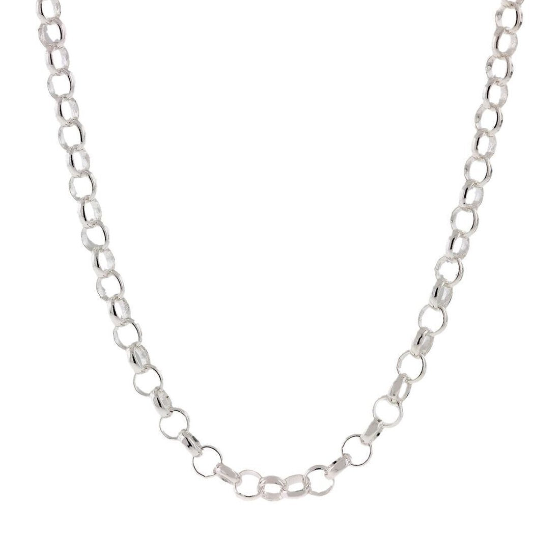 "2.06MM Rolo Chain .925 Solid Sterling Silver Available In ""16-24"" Inches"