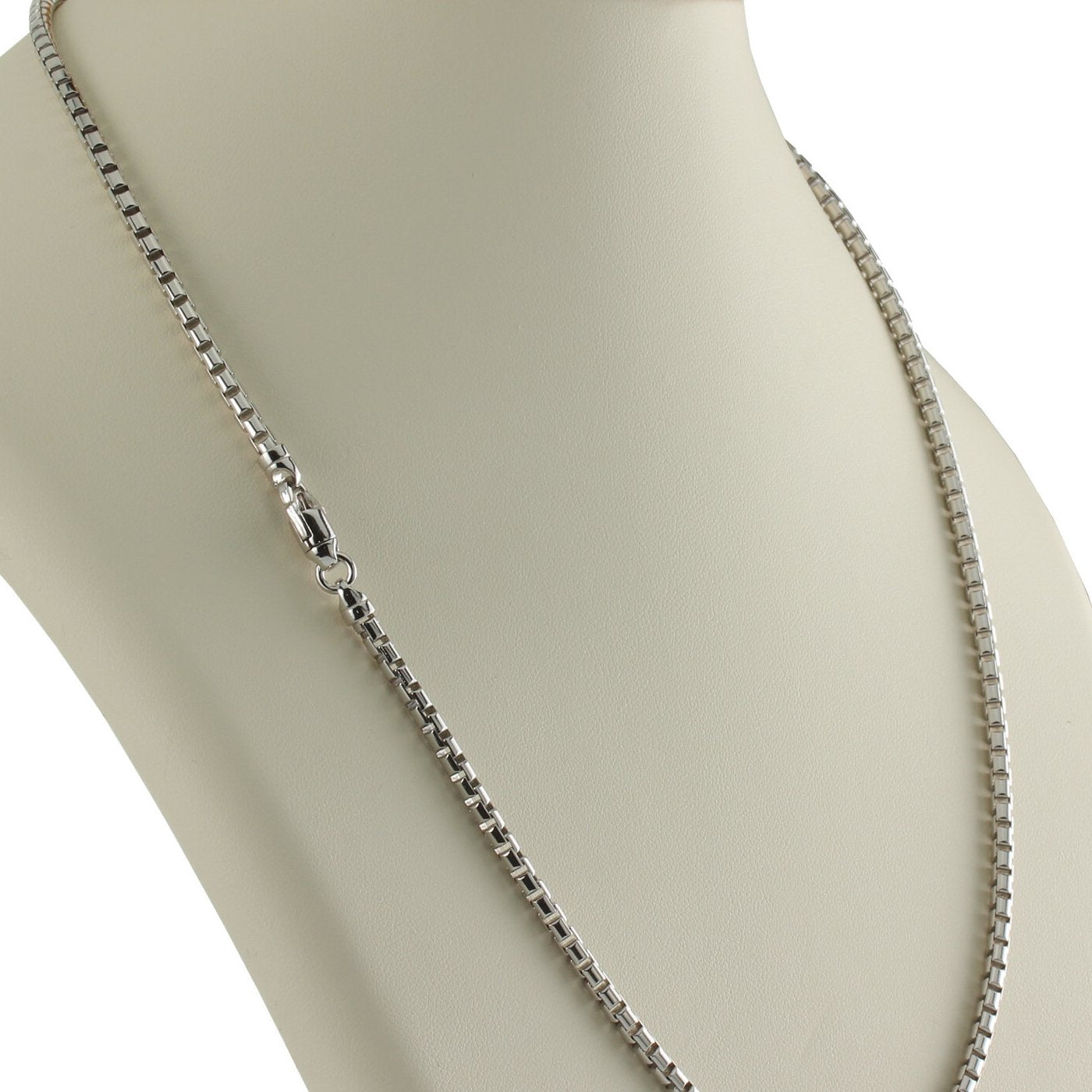 "9MM Round Box Chain .925 Solid Sterling Silver Sizes ""16-24"" Inch"