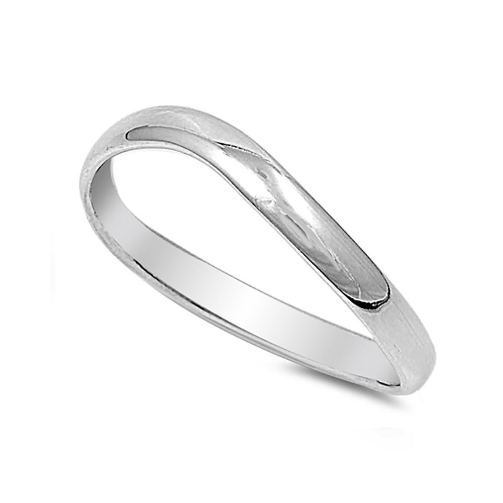 Thumb Curve Band Ring 925 Sterling Silver