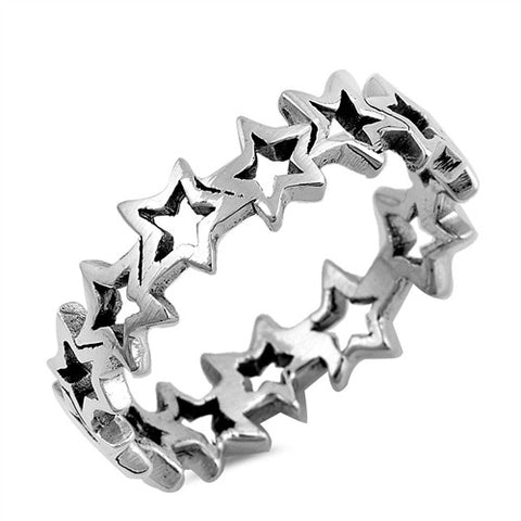 Silver Ring - Stars-$6.97