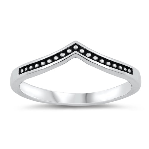Plain Ring Bali Chevron Midi Band Thumb Ring 925 Sterling Silver