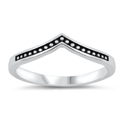 Bali Chevron Midi Band Thumb Ring 925 Sterling Silver