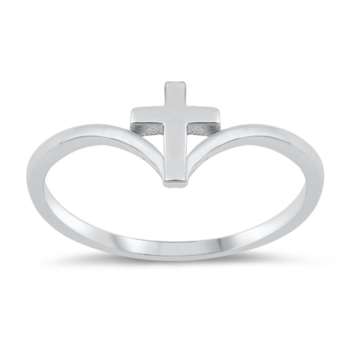 Chevron Midi Cross Thumb Ring Band Solid 925 Sterling Silver