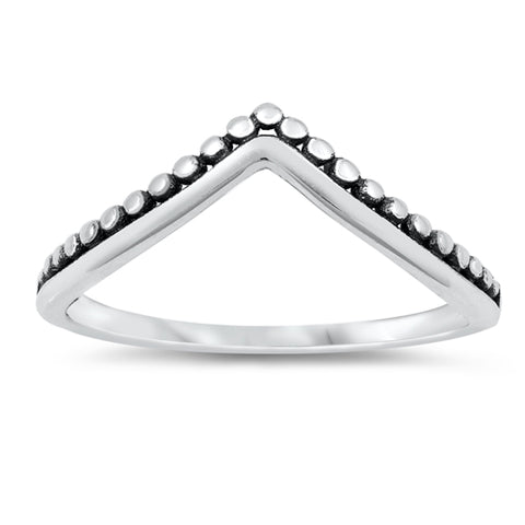 V Ring Chevron Midi Thumb Band Solid 925 Sterling Silver