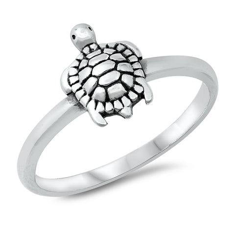 Turtle Ring Band 925 Sterling Silver