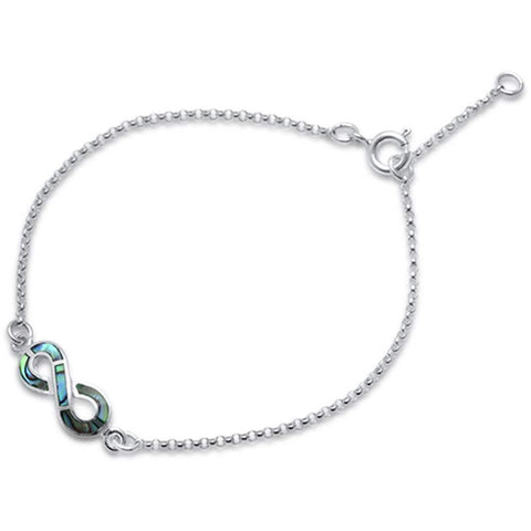 Infinity Love Bracelet 925 Sterling Silver Simulated Stone