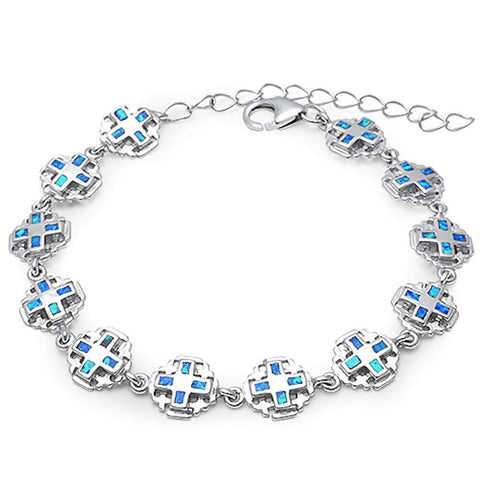 New Design Blue Opal .925 Sterling Silver Bracelet