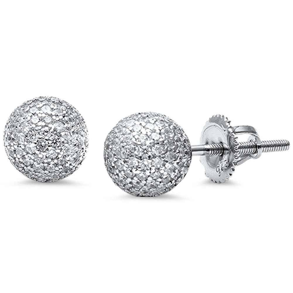 f49e359de ... Sterling Silver Fire Ball Fashion Sphere Earrings Screwback. Tap to  expand