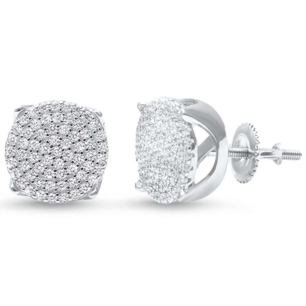 cdb20c864 Hip Hop Stud Earrings Men Women Unisex 925 Sterling Silver Round Pave Ice  Cubic Zirconia Screw. Tap to expand