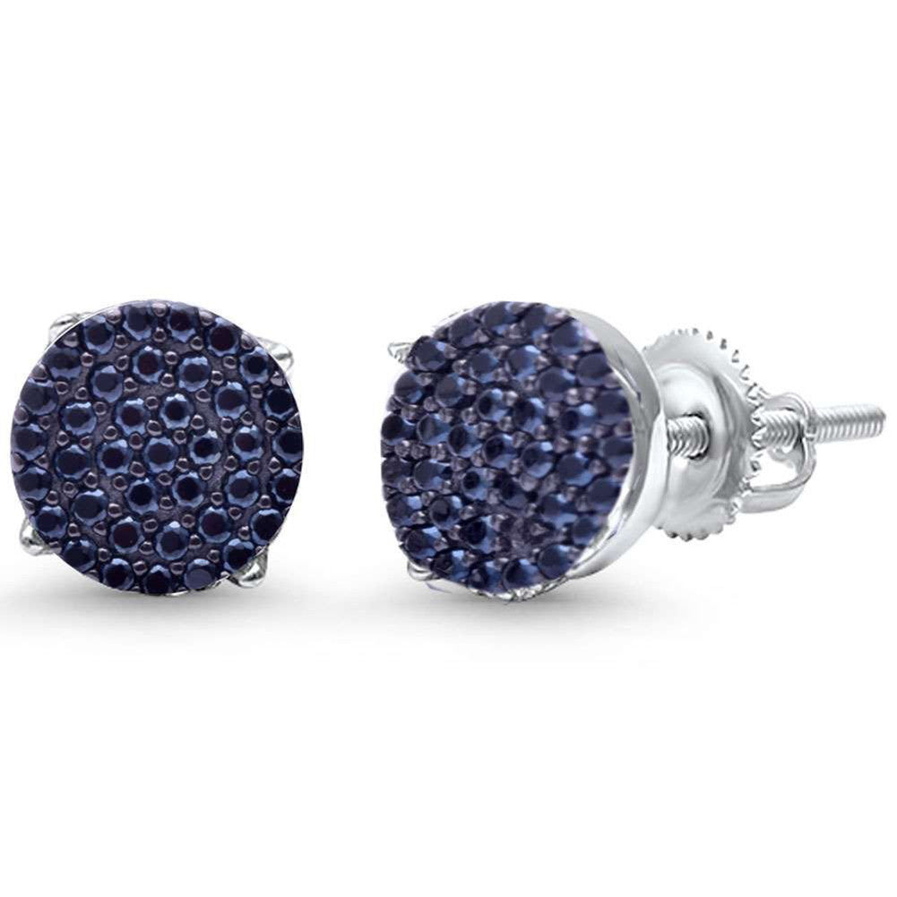 1074250d60 Hip Hop Stud Earrings Men Women Unisex 925 Sterling Silver Round Pave Black  CZ Screw Back. Tap to expand