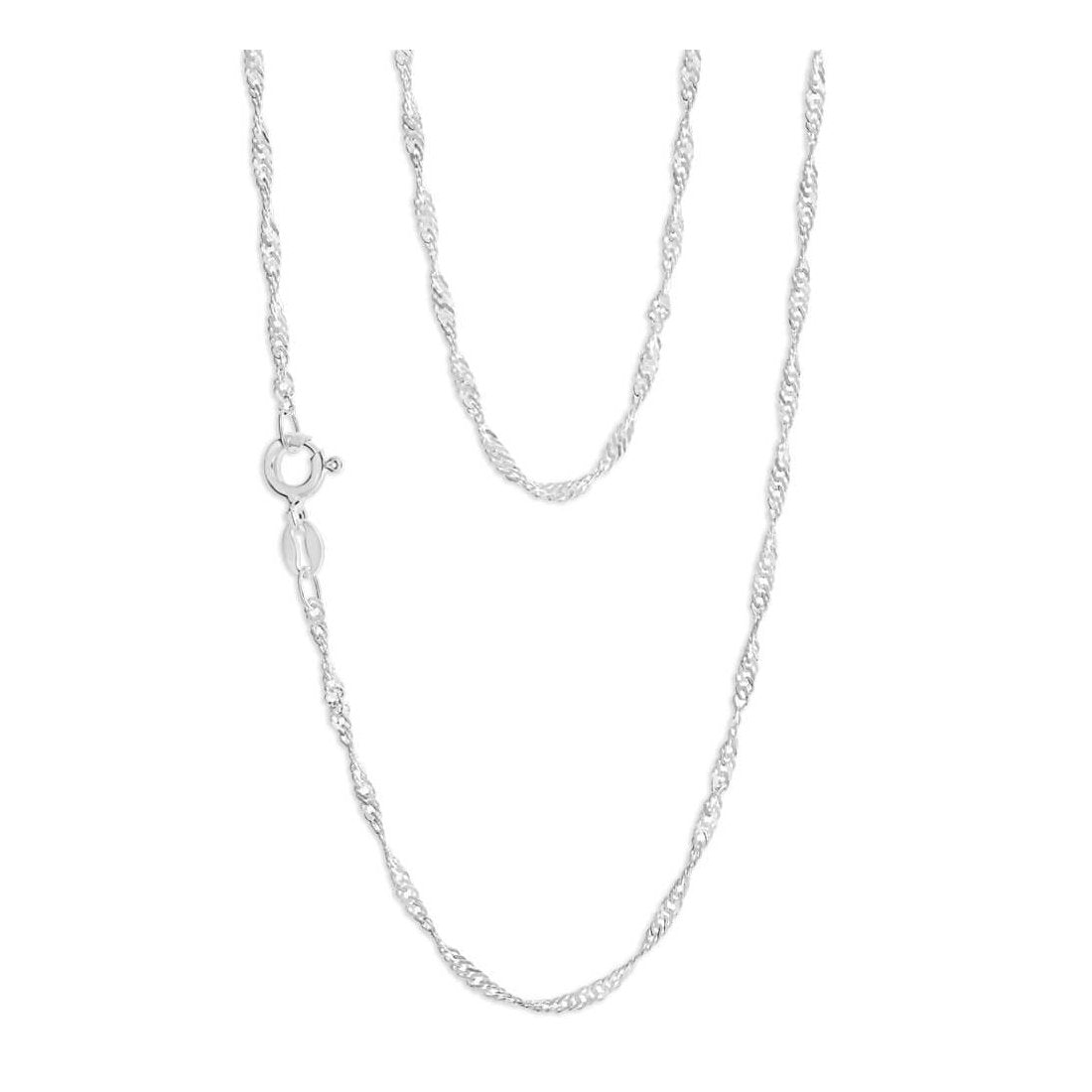 "1.6MM Singapore Chain .925 Solid Sterling Silver Sizes ""16-26"""