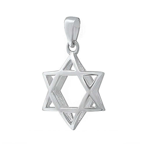 Star of David .925 Sterling Silver Pendant