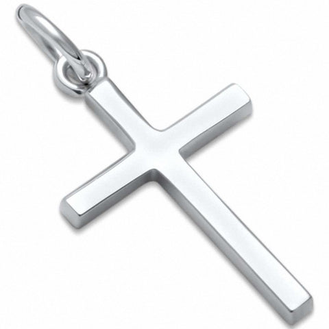 Simple Cross Pendant 925 Sterling Silver Choose Color