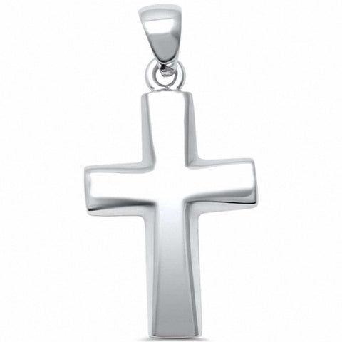 Cross Pendant 925 Sterling Silver Plain Cross Choose Color