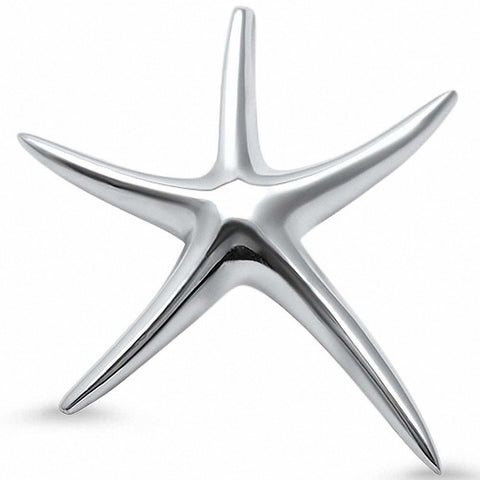 Starfish Pendant 925 Sterling Silver Choose Color
