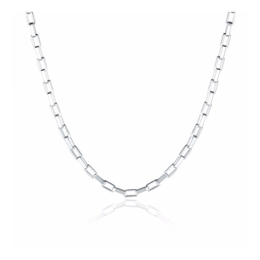 "5.1MM 110 Square Forzatina Chain .925 Solid Sterling Silver Sizes 7""-28"" Inches"