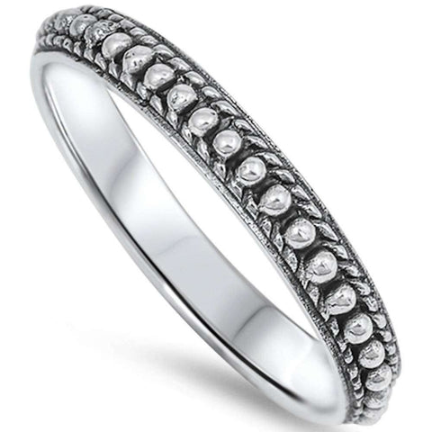 Solid Bali Style Band .925 Sterling Silver Ring Sizes 4-11