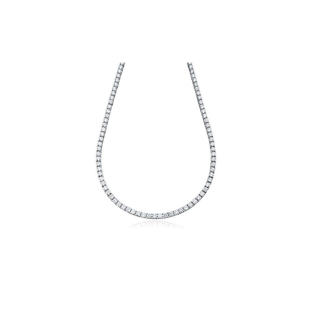 "6MM CZ Tennis Necklaces .925 Sterling Silver Length "" 20"" Inches"