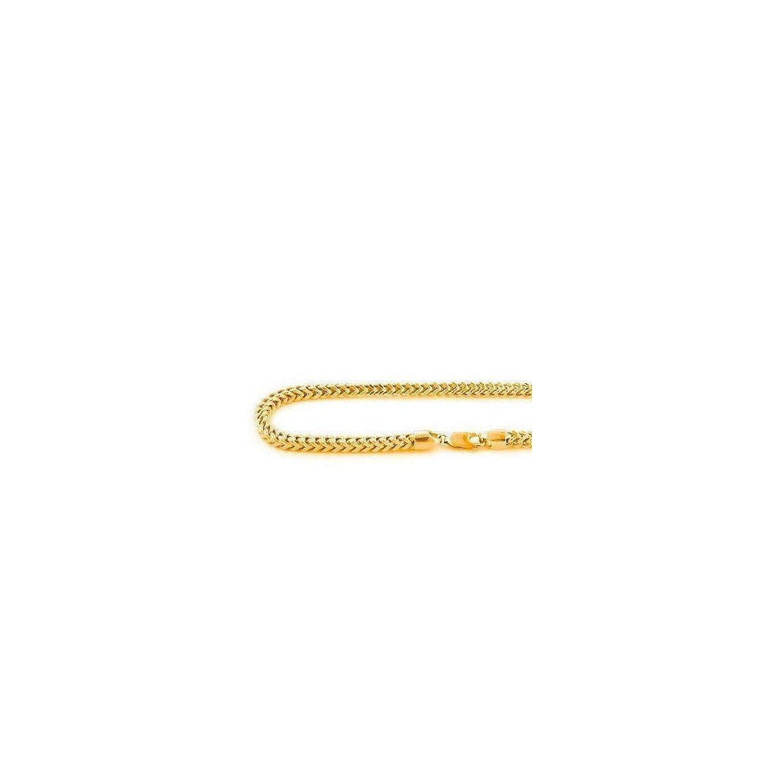 "4.5MM 150 Franco Chain Yellow Gold .925 Sterling Silver Length ""8-28"" Inches"