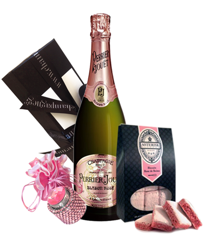 Perrier Jouet Blason Rose NV Bling & Biscuits Pack