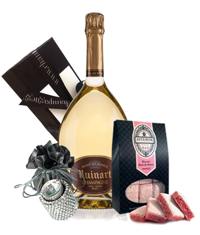 Ruinart Blanc De Blancs NV Bling & Biscuits Pack