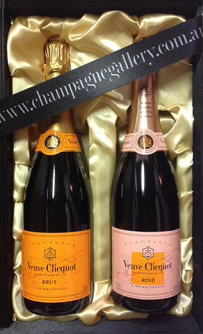 Veuve Clicquot NV Perfect Pair in Satin Gift Box