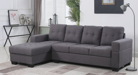 CLAIRE GREY SECTIONAL SOFA