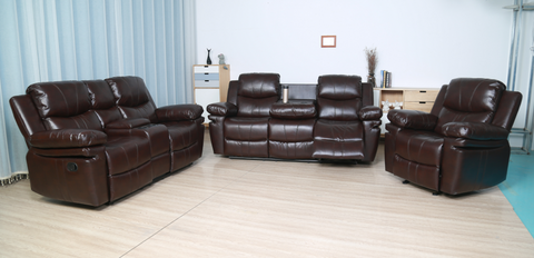 BRYLEA ESPRESSO LEATHER COLLECTION