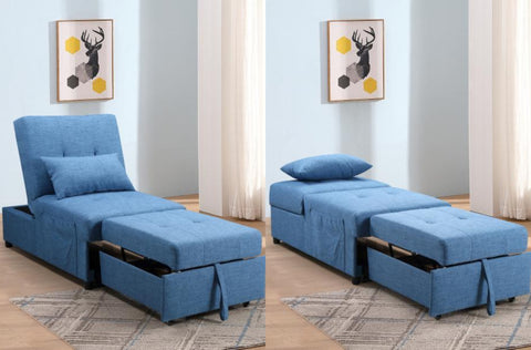 WHITNEY BLUE SOFA BED