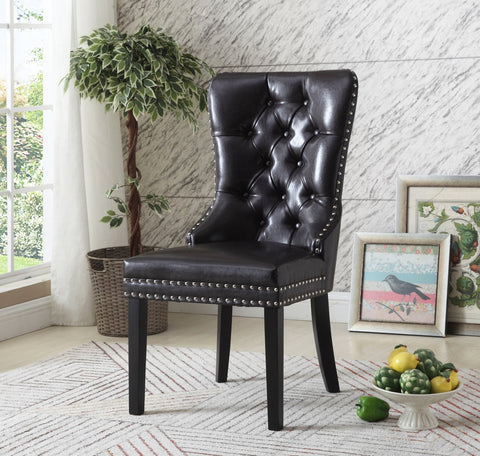 DIANE DARK ACCENT CHAIR(SET OF 2)