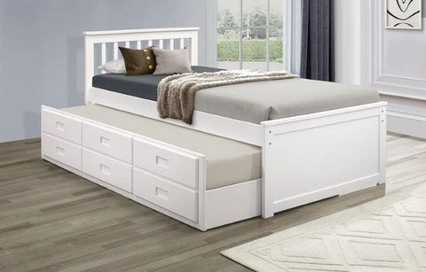 APOLLO WHITE TRUNDLE BED