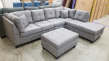 DOLTON GREY SECTIONAL SOFA