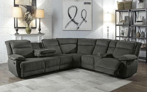 EVELYN GREY SECTIONAL SOFA