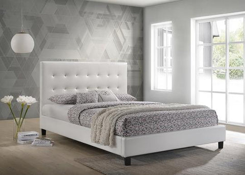 RENAY WHITE PLATFORM BED