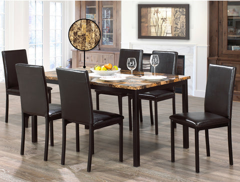 BRENTON 6 CHAIR DINING SET