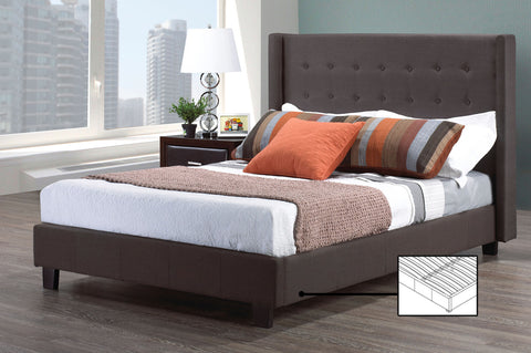 MILANO GREY PLATFORM BED